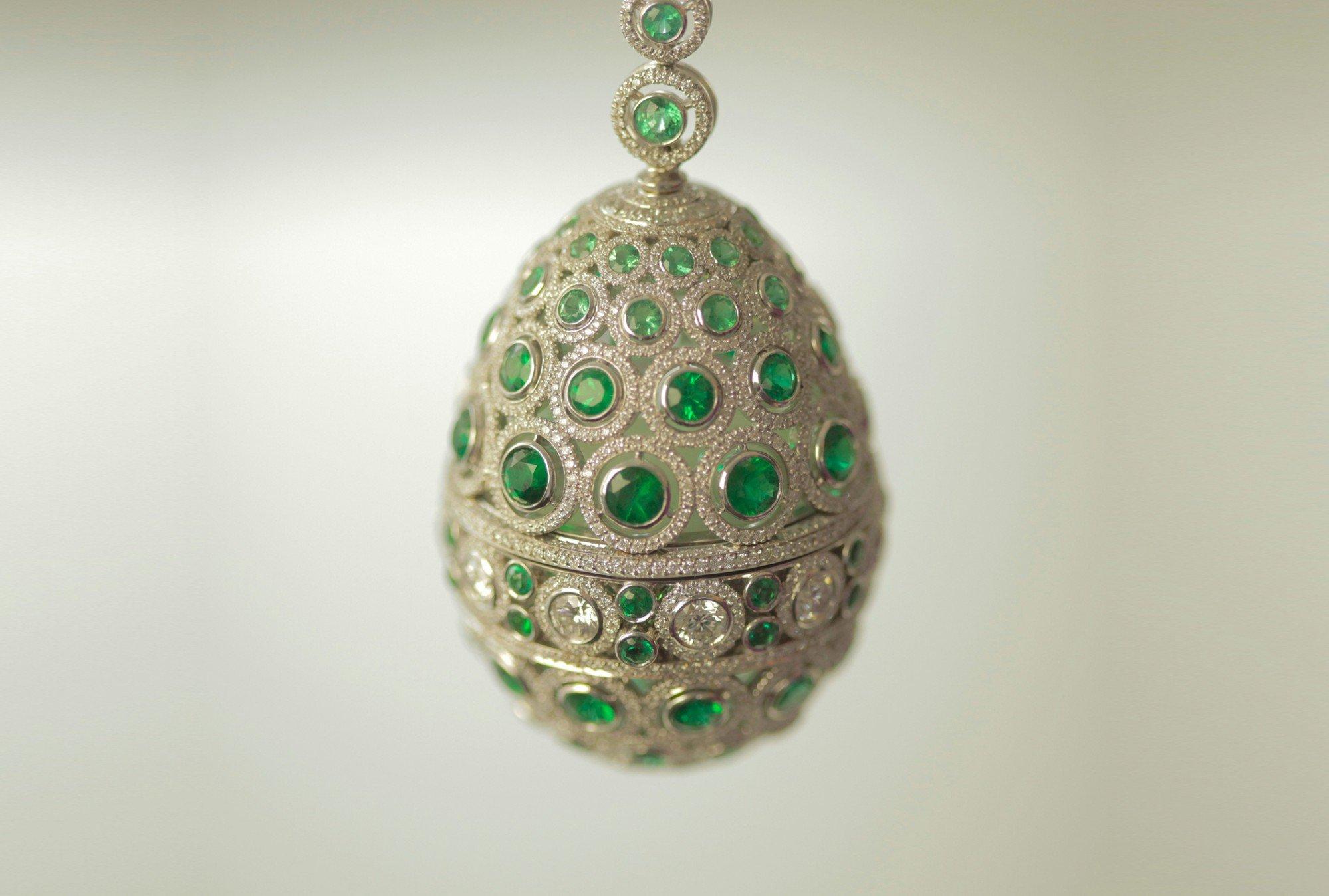 The Emerald Diaghilev Egg, Fabergé, 2014
